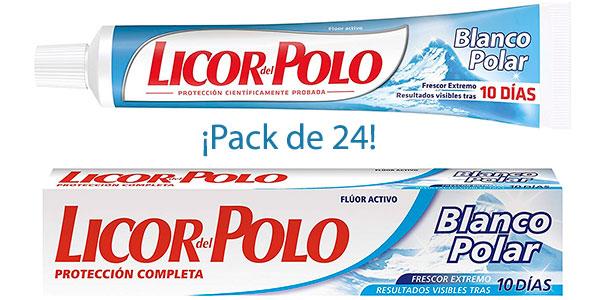 Chollo Pack de 24 dentífricos Licor del Polo Blanco Polarde 75 ml