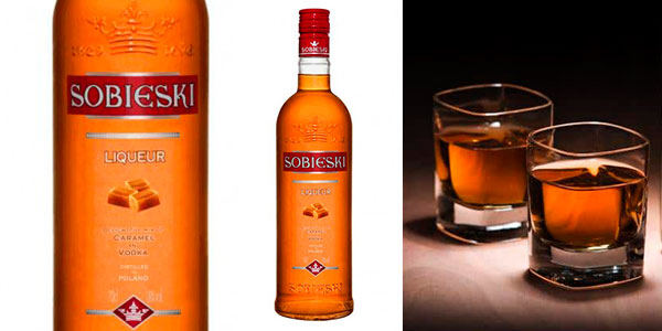 Chollo Licor de vodka y caramelo Sobieski (700 ml)