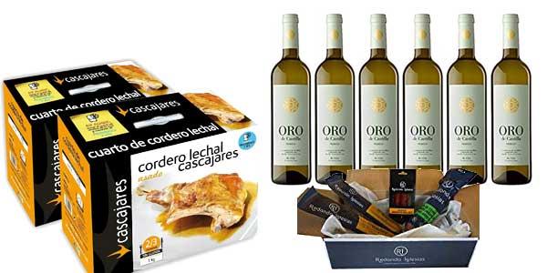 Oferta en seleccion de productos de Gourmet (jamones, ibéricos, aceites, vinos, tes) en Amazon