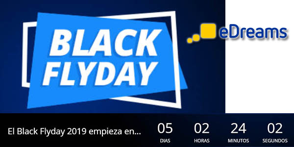 eDreams cuenta atrás Black Friday 2019
