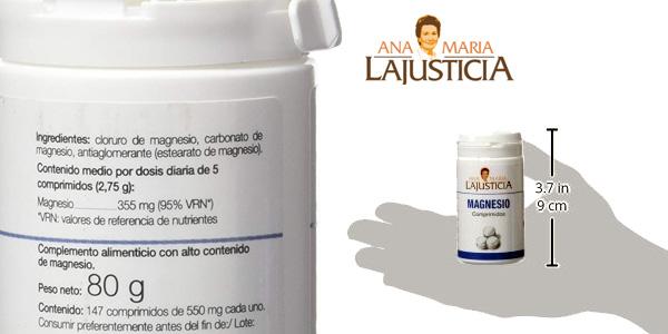 Envase 147 tabletas Magnesio Ana Maria Lajusticia chollo en Amazon