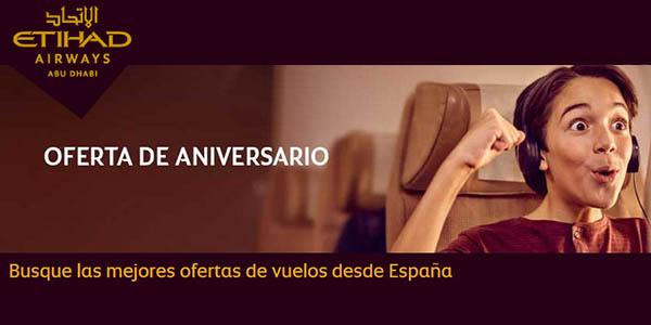 Etihad Airways ofertas aniversario 2018