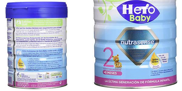 Hero Baby Nutrasense leche infantil de continuación materna chollo
