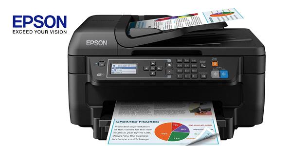 Impresora multifunción 4-en-1 Epson Workforce WF-2750DWF inyección de tinta con WiFi barata en Amazon