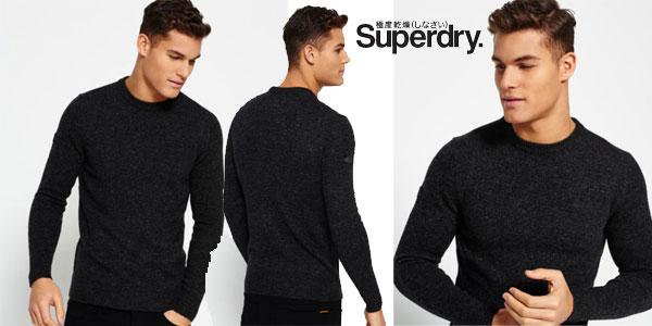 Jersey de cuello redondo Superdry Harlo Char para hombre barato en eBay