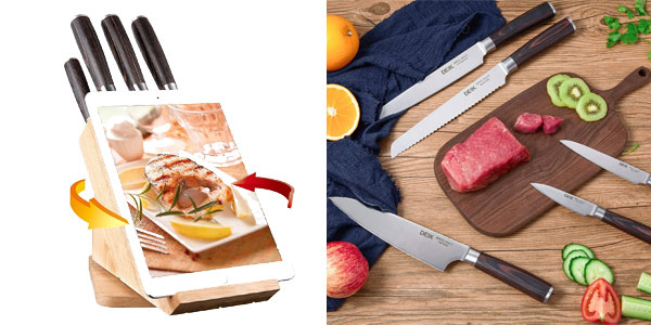 Juego de Cuchillos de cocina de alta calidad Deik + tacoma chollazo en Amazon