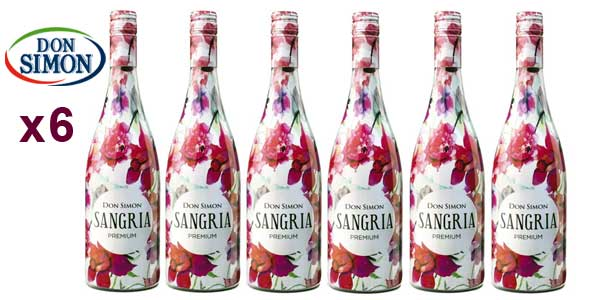 Lote de 6 Botellas Don Simón Sangría Premium 75 cl/ud barato en Amazon