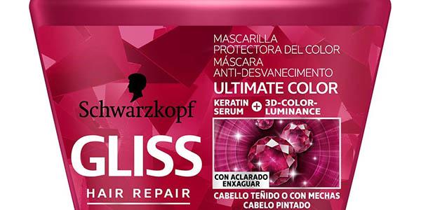mascarilla Gliss Ultimate Color para pelo teñido pack ahorro