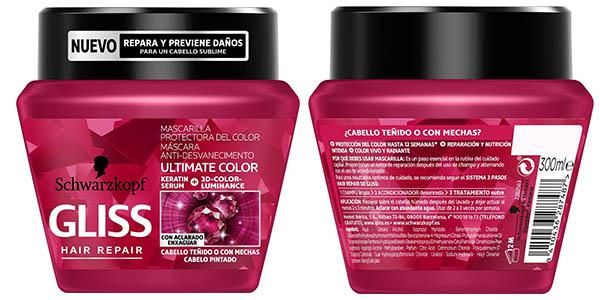 mascarilla protector de color tinte Gliss Ultimate Color oferta