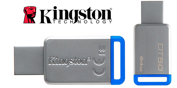 Memoria USB 3.0 Kingston DataTraveler DT50 de 64 GB barata