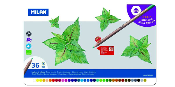 Pack x36 lápices de colores Milán de mina grande chollazo en Amazon
