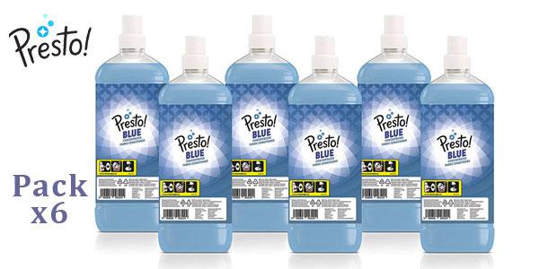 Pack 6 Botellas Suavizante concentrado blanco Presto! 360 lavados barato en Amazon