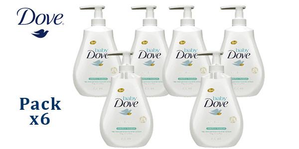 Pack x6 Gel de baño hidratación profunda de pies a cabeza Baby Dove 400 ml barato en Amazon