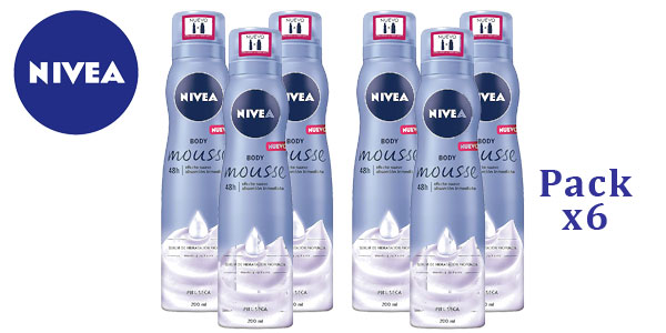 Pack x6 Nivea Body Mousse Smooth piel Seca barato en Amazon