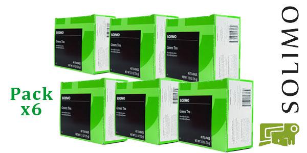 Pack 6 cajas de 40 bolsitas Té Amazon Solimo barato en Amazon