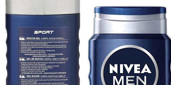 Pack x6 Gel de ducha Nivea Men Sport de 500 ml chollo en Amazon