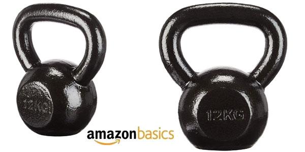 Pesa rusa AmazonBasics de hierro fundido de 12 kg chollo en Amazon
