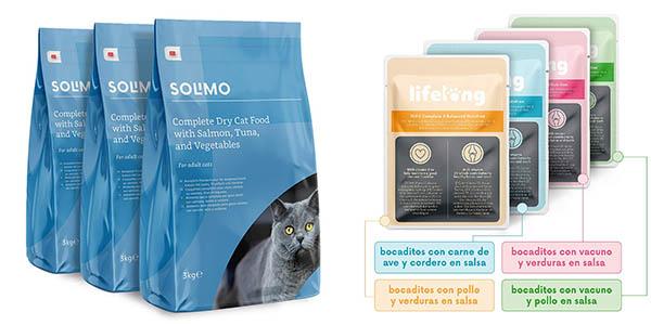 pienso para gatos y perros Amazon Solimo con relación calidad-precio genial