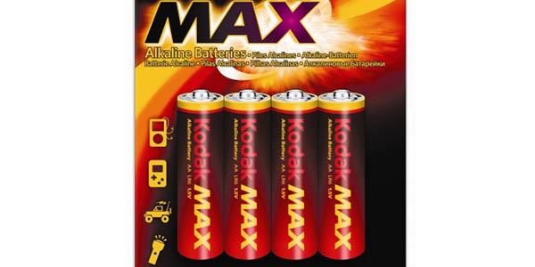 pilas alcalinas AA Kodak Max KAA pack ahorro