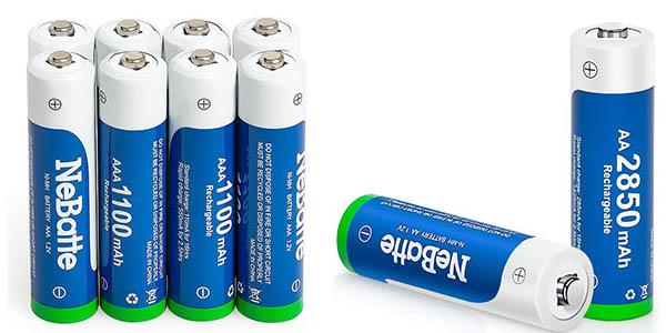 Pack pilas recargables NeBatte 16 x AA (2.850 mAh) + 8 x AAA (1.100 mAh)