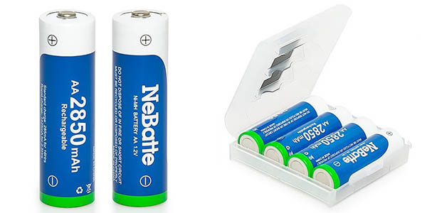 Pack pilas recargables NeBatte 16 x AA (2.850 mAh) + 8 x AAA (1.100 mAh) barato