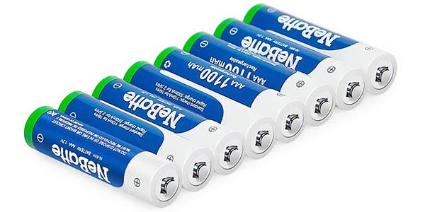 Pack pilas recargables NeBatte 16 x AA (2.850 mAh) + 8 x AAA (1.100 mAh) en Amazon