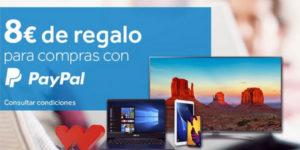 Promoción 8€ de descuento en Worten pagando con PayPal ¡Cupones muy limitados!