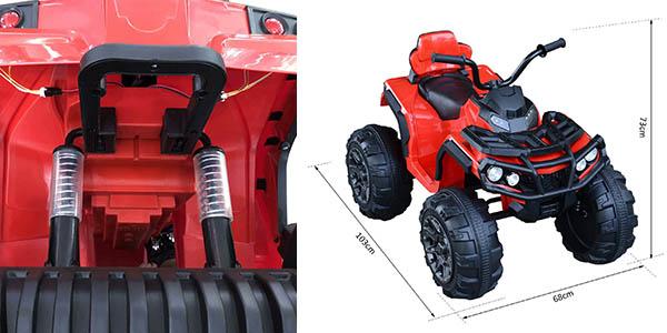 quad eléctrico para niñ@s seguro y resistente con batería recargable chollo