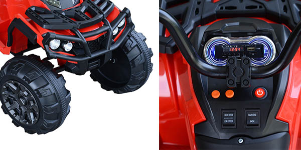 quad eléctrico seguro para niñ@s hasta 8 años relación calidad-precio estupenda