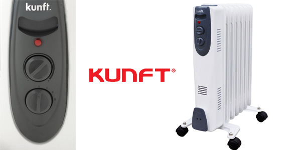 Radiador de Aceite KUNFT KOR-2689 de 1500W y temperatura regulable barato en eBay