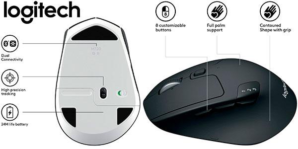 Ratón inalámbrico Logitech M720 Triathlon para Windows y Mac barato