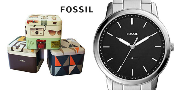 Reloj Fóssil FS5307 para hombre con correa de acero inoxidable barato en Amazon