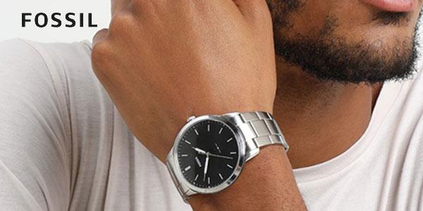Reloj Fóssil FS5307 para hombre con correa de acero inoxidable chollo en Amazon