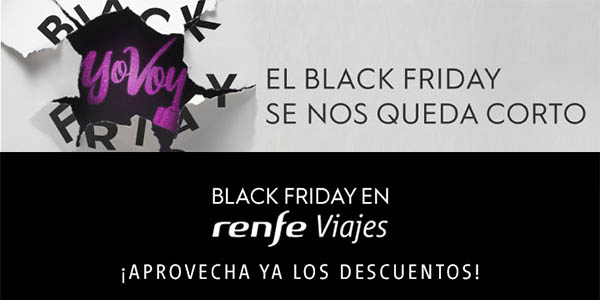Renfe Black Friday 2019