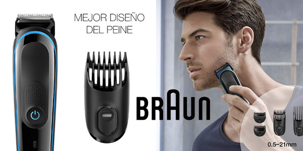 Set de afeitado multifunción 9-en-1 Braun MGK3085 chollo en Amazon