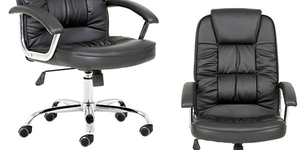 sillón acolchado de oficina con ruedas chollo