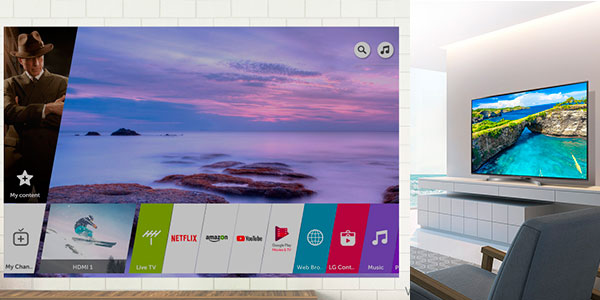 "Smart TV LG 65UK6750PLDde 55"" UHD 4K con Inteligencia Artificial en oferta"
