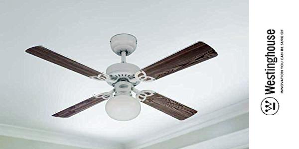 Ventilador de techo con lámpara E27 Westinghouse Vegas de aspas reversibles chollazo en Amazon