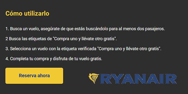 vuelo gratis en la promoción de Black Friday 2020 en Ryanair