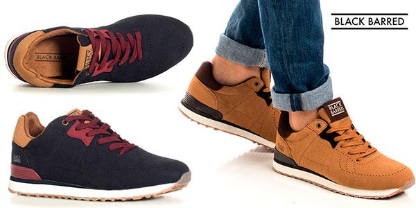 Zapatillas Black Barred Adrian para hombre baratas