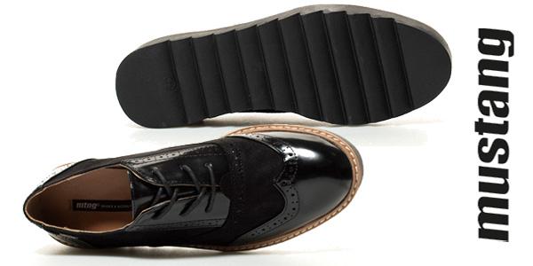 Zapatosde cordones Mustang Dafne en negro para mujer chollo en eBay