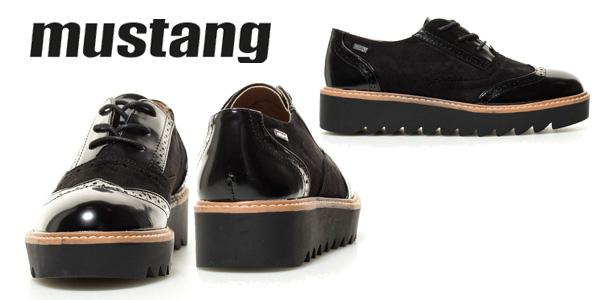 Zapatosde cordones Mustang Dafne en negro para mujer chollazo en eBay