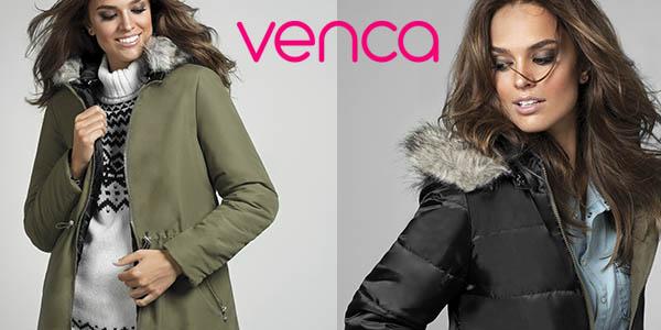 abrigo con capucha de pelo para mujer Venca chollo