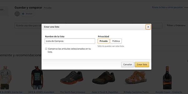Amazon Lista de deseos regalo cupón descuento