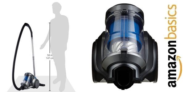 Aspiradora cilíndrica sin bolsa AmazonBasics de 700W y 2,5L chollazo en Amazon