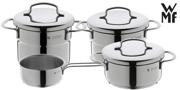 Bateria de cocina WMF Mini de 5 piezas acero inoxidable 18/10 chollazo en Amazon