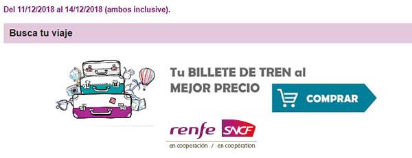 billetes de tren Renfe SNCF ofertas en viajes a Francia