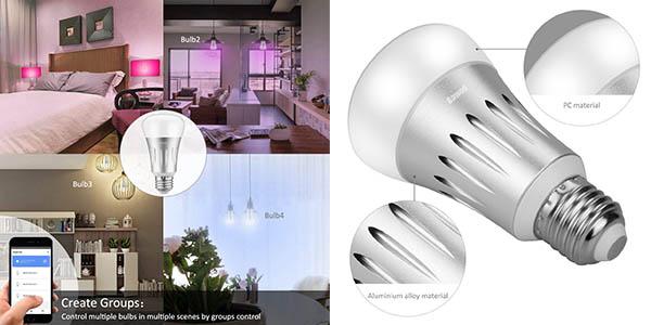 bombilla LED E27 con control WiFi oferta