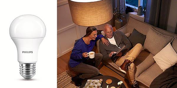 bombilla LED E27 Philips Lighting clase A chollo