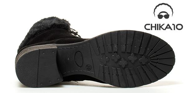 Botines de piel serraje Lisa Chika10 en marrón o negro para mujer chollo en eBay